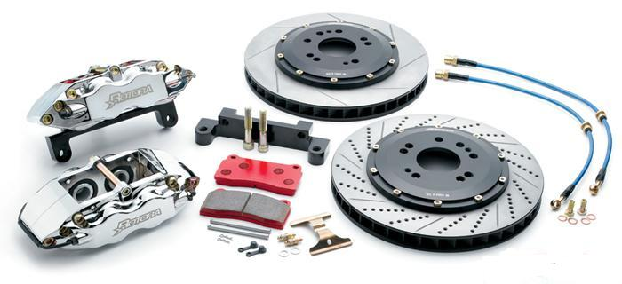 Rotora Front 2pc 14in Brake Kit 4piston Audi A6 (Quattro) 98-04