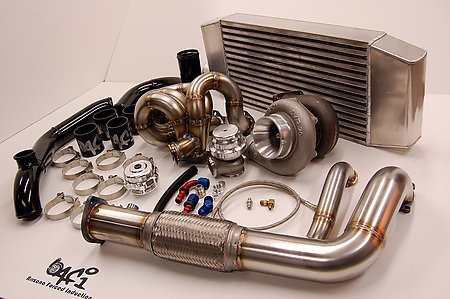 AFI Bottom Mount Turbo Race Kit Acura Integra DB Series - Acura integra turbo kit