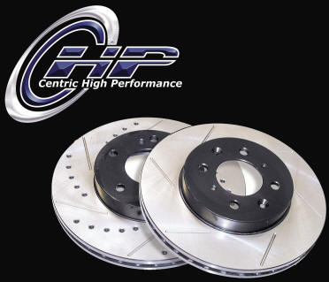 Centric Rear Slotted Rotors - Mazdaspeed Protege