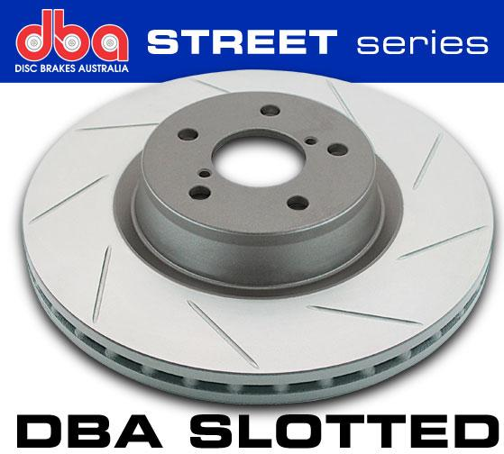DBA Slotted Rear Rotors - Mazdaspeed3