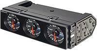 Defi DIN-Gauge Left-Hand Drive Car Black with Green LED