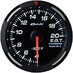 Defi White Racer 52mm Exhaust Temperature Gauge
