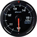 Defi White Racer 52mm Volt Gauge