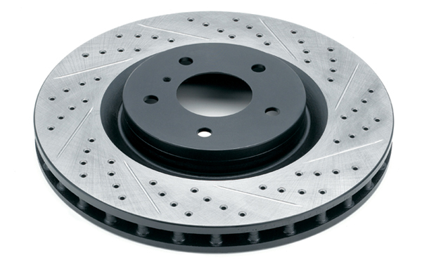 Rotora Front Left Drilled&Slotted Rotor A8 9/99-03