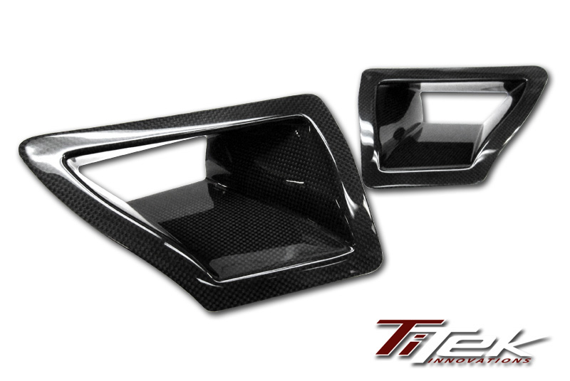 Titek Gloss Carbon Fiber Dual Air Duct Nissan 350Z 07-08