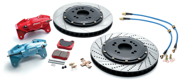 Rotora Rear 1pc 11.4in Brake Kit 2piston Subaru Forester 98-06